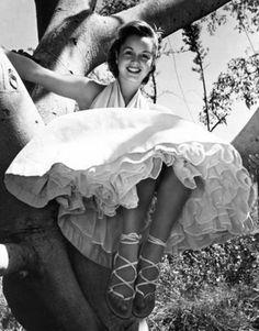 "Debbie Reynolds, 1953 in Helen Rose-designed costume for ""Give a Girl a Break"""