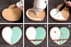 Heart shaped bird cookie tutorial