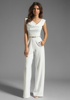 tumblr winter women 2013 | Black Halo Jackie Jumpsuit in White (winter white) - Lyst
