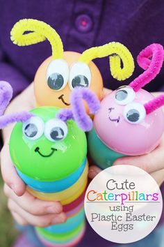 Catepillars-With-Recycled-Plastic-Easter-Eggs-Artzy Creations Main