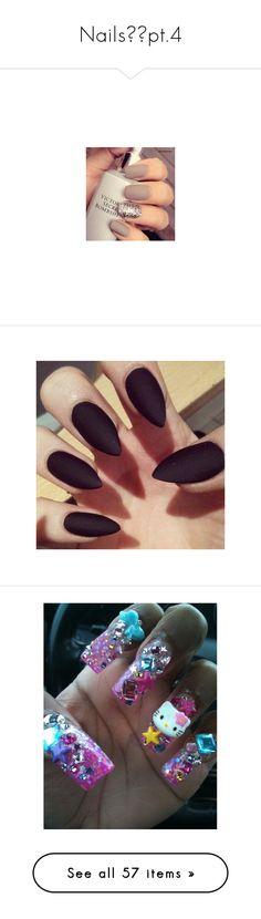 """Nails💅🏾pt.4"" by gamergirl247 ❤ liked on Polyvore featuring nails, beauty products, nail care, nail treatments, accessories, makeup, nail polish, unhas, pics and shorts"