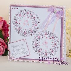 Dies by Chloe - Flower Circle Die - - Chloes Creative Cards Birthday Card Design, Kids Birthday Cards, Chloes Creative Cards, Stamps By Chloe, Crafters Companion Cards, Flower Circle, Friendship Cards, Flower Cards, Anniversary Cards