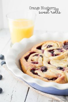 Orange Blueberry Sweet Rolls