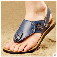Korean-fashion-mens-breathable-clip-toe-beach-sandals-flip-flops