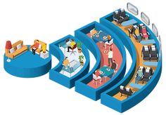Avec l'agence Fabrique, l'illustrateur Jing Zhang et l'animateur James Wignall ont conçu 8 thèmes d'illustrations magnifiquement animés pour une organisation néerlandaise, sur des sujets comme l'utilisation et la sécurité d'internet. Les illustrations animées peuvent être trouvés sur le site officiel de Veilig Internetten.