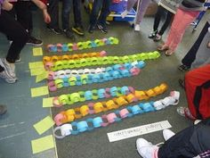 Lesson ideas for launching a graphing unit through a class-wide inquiry using minute to win-it activities and then graphing and comparing data. Student Teaching, Math Teacher, Math Classroom, Kindergarten Math, Teaching Ideas, Classroom Ideas, Teacher Stuff, Math 2, Graphing Activities