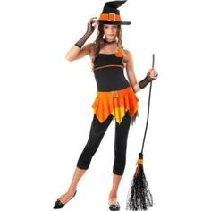 Teen Girls Sassy Witch Costume(also in purple) Halloween Costumes Party City, Halloween City, Teen Girl Costumes, Costumes For Teens, Halloween Supplies, Fancy Dress, Sassy, Girls, Dresses