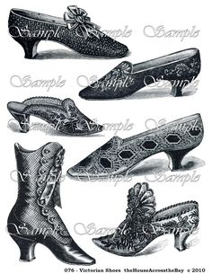 Victorian Shoes Boots Slippers Printable by theHouseAcrosstheBay