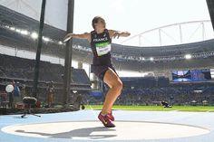 Mélina Robert-Michon, médaillée d'argent au lancer du disque. Photo AFP
