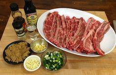 Korean Short Ribs recipe on the grill - HowToBBQRight - Styles Cool Rib Recipes, Grilling Recipes, Asian Recipes, Cooking Recipes, Smoker Recipes, Chinese Recipes, Cooking Tips, Dinner Recipes, Dining