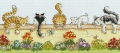Bothy Threads Lazy Cats XGR1 #crossstitch,#crossstitching,#crossstitchkits