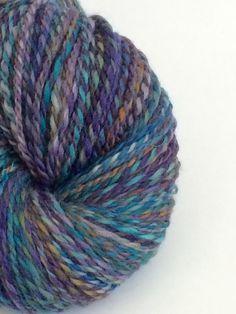 Hand Spun Yarn Hand Dyed Wool Yarn Knitting by WendysWonders127