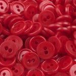 #Knöpfe Rot 11 mm - diese kleinen Kunststoff-Knöpfe in Rot sind ideal zum Nähen oder auch zum Verzieren. Perfekt für Kinderkleidung, Hemden, Blusen und Kleider.