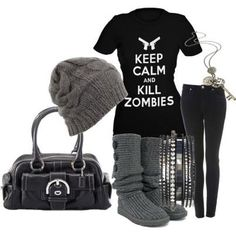 Love it!  But I would change out the shoes to combat boots!