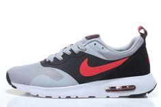 Nike Air Max Tavas SE Men Running Shoes Light Grey Red Black 705149