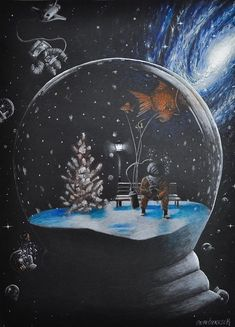 I am a physics student who loves to draw space illustrations and I am also interested in psychology. I suddenly come up with the idea of matching my drawings with psychological illnesses. Exam Good Luck Quotes, Space Illustration, Illustrations, Astronauts In Space, Shape Art, Body Drawing, Maybe One Day, Personality Disorder, Writing Inspiration