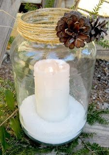 Simply Country Life: Old Pickle Jars into Pottery Barn Knockoffs