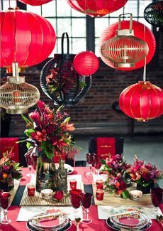 now this is a fancy and beautiful Chinese New Year table setting! #ChineseNewYear