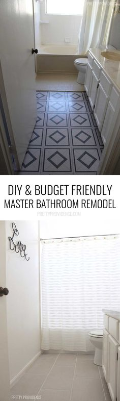 I LOVE this DIY master bathroom remodel! Budget is realistic too!!!