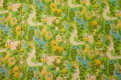 Cheerful Vintage Tropical Jungle Safari by wemixandmatchvintage, $30.00
