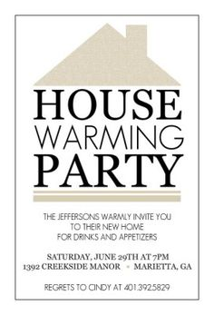 Housewarming Invitation Templates Free Party Printable Invitations Printables Label