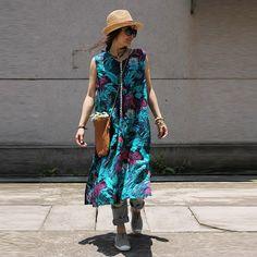 Women summer sleeveless floral linen dress