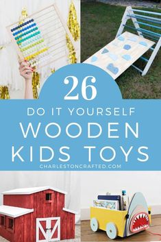 26 do it yourself wooden kids toy ideas - want to build a wood toy for your infant toddler or child? here are 26 easy DIY ideas! Wooden Toy Barn, Diy Wooden Wall, Wooden Kids Table, Woodworking For Kids, Woodworking Vest, Woodworking Bench Vise, Youtube Woodworking, Woodworking Videos, Woodworking Crafts