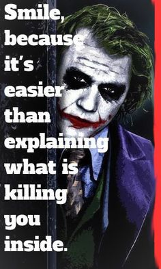quotes about moving on Here are some very inspirational quotes which contain great sayings of Joker (Heath Ledger). You will be very inspired and will move in the right way of life. Heath Ledger Joker Quotes, Joker Heath, Joker Dc, Joker And Harley Quinn, Joker Ledger, Heath Legder, Joker Comic, Joker Qoutes, Best Joker Quotes