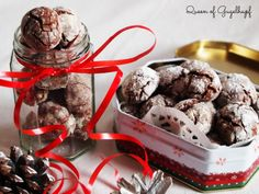 American Chocolate, Chocolate Crinkles, Pudding, Ice Cream, Giveaway, Desserts, Christmas, Charlotte, Recipes