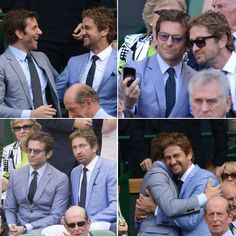Centre Court Couples: Bradley Cooper And Gerard Butler At Wimbledon Final today