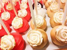 coral and gold cake pops - Google Search