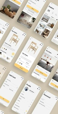 HomeCraft App UI Kit is a pack of delicate UI design screen templates that will help you to design clear user interfaces for ecommerce shopping apps faster and easier. Compatible with Sketch App, Figma & Adobe XD Android App Design, Android Ui, App Ui Design, Web Design, Layout Design, Mobile Application Design, Mobile Ui Design, Restaurant App, Ecommerce App