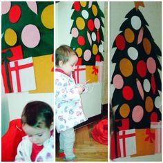 Felt christmas tree, easy to do