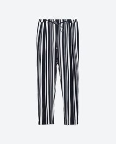 Zara dark blue & white stripes