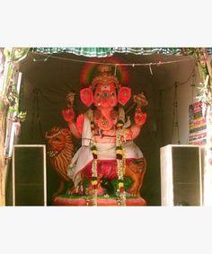 Click to enlarge Fairs And Festivals, Workshop Organization, Indian Heritage, Ganesha, Worship, Idol, Display, City, Painting