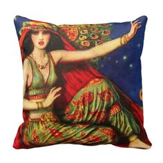 Indian Dancer Throw Pillow  available on Zazzle