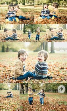 Playful boys Fall photo