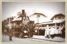 """Album """"Josef Rautter"""" Eröffnung der Karawankenbahn am 30. September 1906 - Bahnhof Rosenbach Ww2, September, Album, Painting, Villach, Painting Art, Paintings, Painted Canvas, Drawings"""