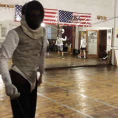 Olympic fencing in the heart of Downtown Fayetteville.  #tryfencing #wedaryounottoloveit #weallplayswords   #downtownfayetteville #coolspringdowntowndistrict @downtownfay @fay_dta