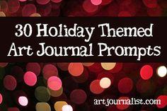 30 Holiday Themed Journal Prompts - Art Journalist | Art Journalist