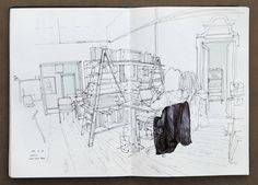 on the road sketchbook PART 4 by Thomas Cian, via Behance
