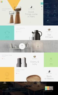 Web design inspiration Why I love it: flat web design, colour scheme, layout