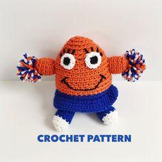 Cheery the Monster Cheerleader Amigurumi Crochet Pattern- Stuffed Monster Softie Pattern- Crochet Toddler Toy- Instant Download by DenverWhimsy on Etsy