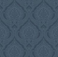 Wallpaper :: Paper & Ink Wallpaper Books :$208, 68cm x 8metres: Indigo - 15 Designs :: Traditional Damask - Ivory Tower Decor