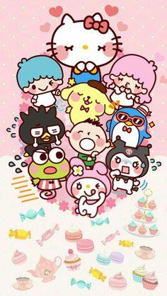 Sanrio gang Sanrio Wallpaper, Cute Wallpaper For Phone, Hello Kitty Wallpaper, Kawaii Wallpaper, Sanrio Hello Kitty, Hallo Kitty, Hello Kitty Imagenes, Sanrio Danshi, Pochacco
