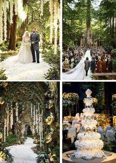 Twilight Inspired Wedding Cake