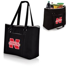 The Nebraska Cornhuskers Black Tahoe Cooler Tote Bag by Picnic Time