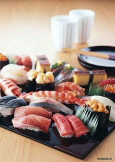 Sushi  I want this for lunch today <3