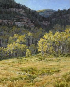Rimmed in Radiance #2 - Vail Valley  30 x 24 Oil - (Commission)