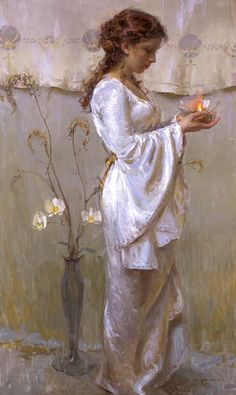 Beautiful Women Paintings by Daniel F. Gerhartz. Part 2 - AmO Images - AmO Images